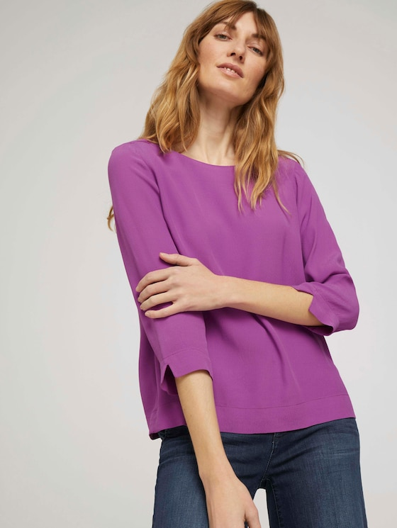 3/4 Arm Bluse - Frauen - plum blossom lilac - 5 - TOM TAILOR