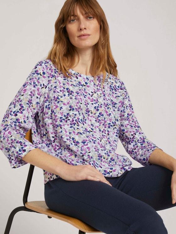3/4 Arm Bluse - Frauen - offwhite floral design - 5 - TOM TAILOR
