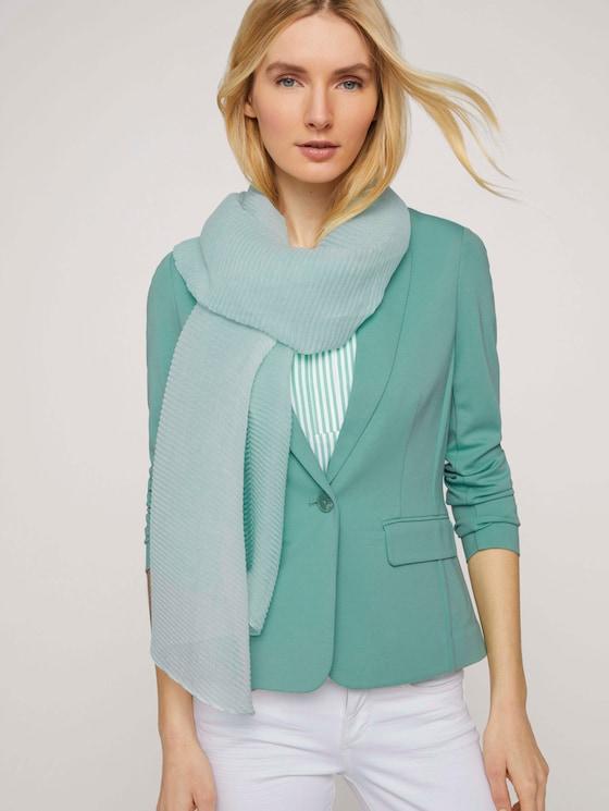 Plissierter Schal mit Farbverlauf - Frauen - minty green - 5 - TOM TAILOR