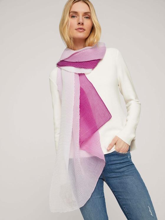 Plissierter Schal mit Farbverlauf - Frauen - plum blossom lilac - 5 - TOM TAILOR