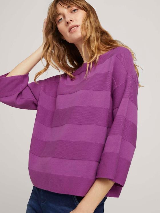 Pullover mit Bio-Baumwolle - Frauen - plum blossom lilac - 5 - TOM TAILOR