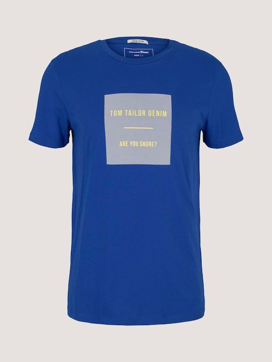 T-Shirt mit Bio-Baumwolle - Männer - Shiny Royal - 7 - TOM TAILOR Denim