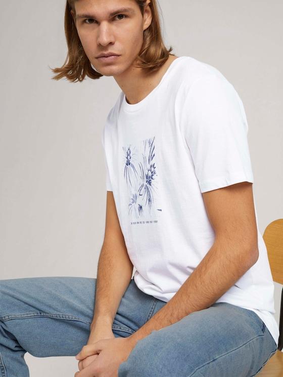 t-shirt with a print - Men - White - 5 - TOM TAILOR Denim