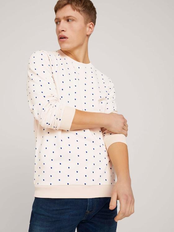 gemustertes Sweatshirt - Männer - almond colored squares print - 5 - TOM TAILOR Denim