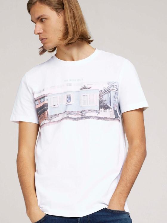 T-Shirt mit Fotoprint - Männer - White - 5 - TOM TAILOR Denim