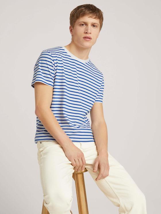 gestreiftes T-Shirt - Männer - blue white thin stripe - 5 - TOM TAILOR Denim