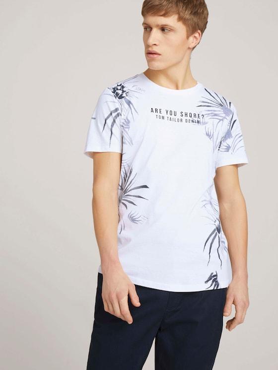 Print T-Shirt mit Bio-Baumwolle - Männer - White - 5 - TOM TAILOR Denim