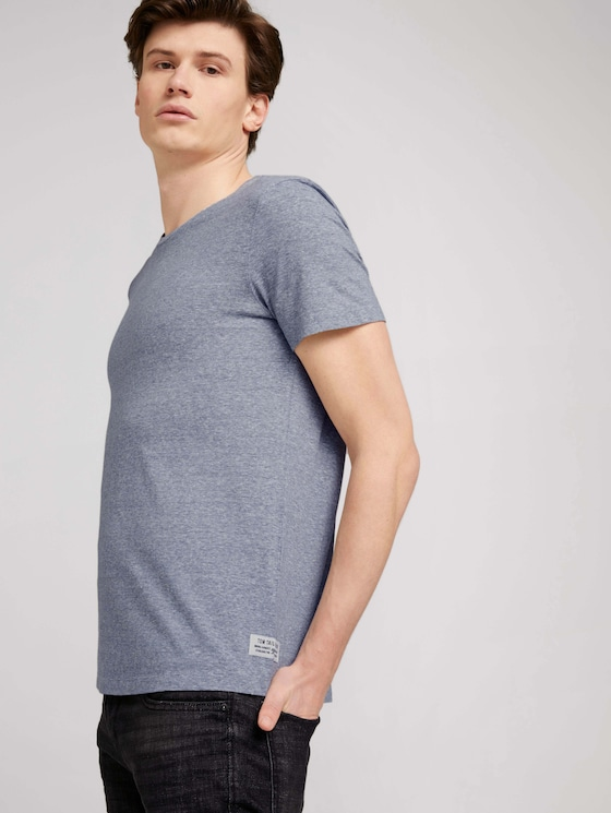 strukturiertes T-Shirt - Männer - Dark Blue Stripe - 5 - TOM TAILOR Denim