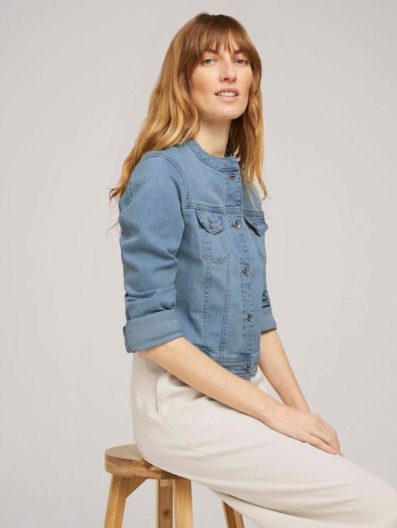 Kurze Jeansjacke mit Bio-Baumwolle - Frauen - Used Light Stone Blue Denim - 5 - TOM TAILOR