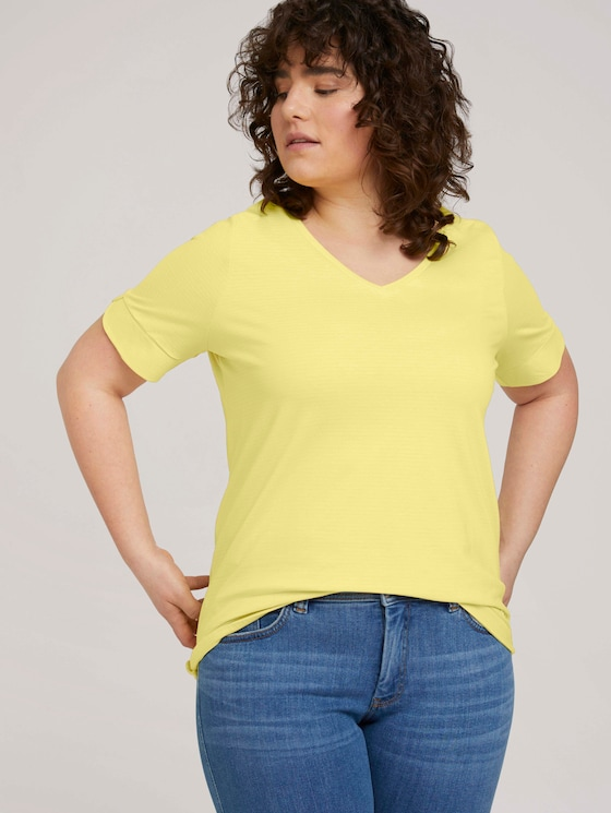 Curvy - T-Shirt mit Bio-Baumwolle - Frauen - mellow yellow - 5 - My True Me
