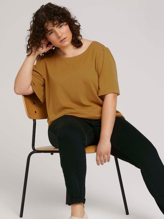 T-Shirt mit Volantärmeln - Frauen - California Umber - 5 - My True Me