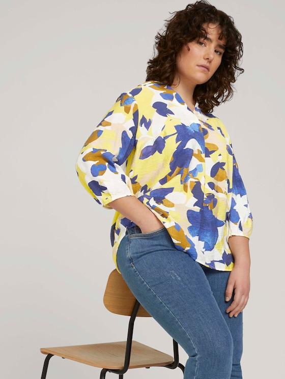 gemusterte Bluse - Frauen - big floral pattern - 5 - My True Me