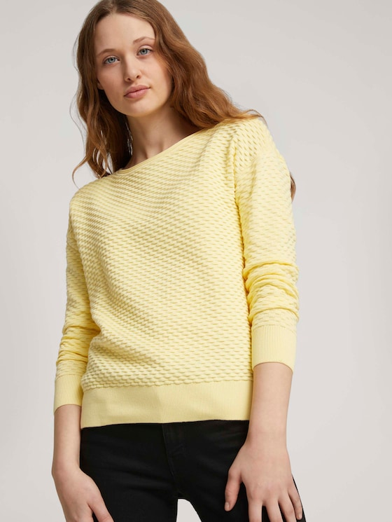 Pullover aus Bio-Baumwolle - Frauen - soft yellow - 5 - TOM TAILOR Denim