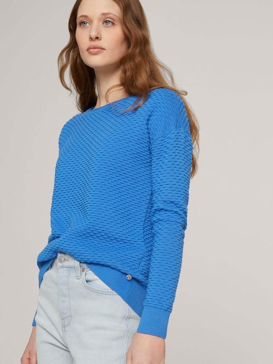 Pullover aus Bio-Baumwolle - Frauen - mid blue - 5 - TOM TAILOR Denim