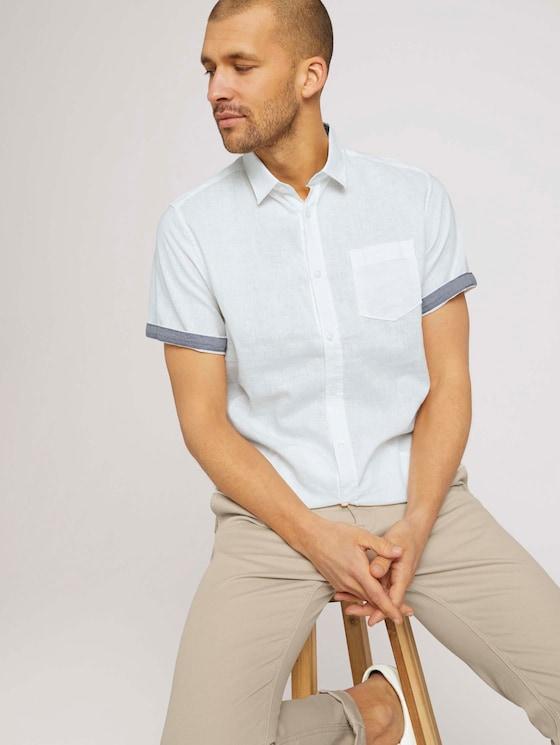 kurzärmliges Hemd - Männer - Off White - 5 - TOM TAILOR