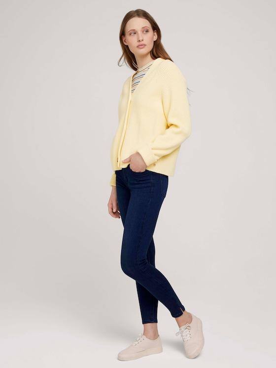 Nela Extra Skinny Jeans mit TENCEL™ - Frauen - Used Dark Stone Blue Denim - 3 - TOM TAILOR Denim