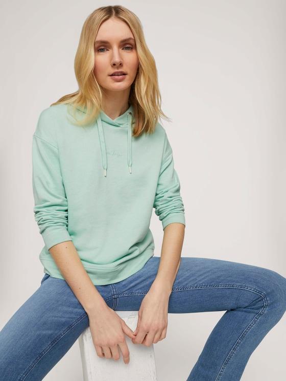 Hoodie mit Bio-Baumwolle - Frauen - minty green - 5 - TOM TAILOR