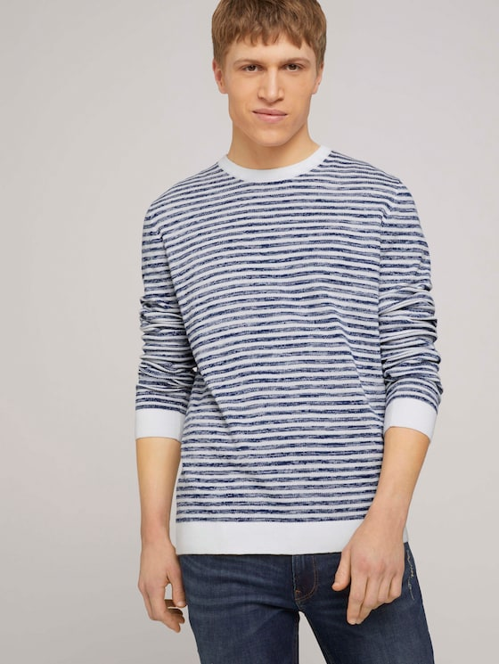 gestreifter Pullover - Männer - blue white mouline stripe - 5 - TOM TAILOR Denim