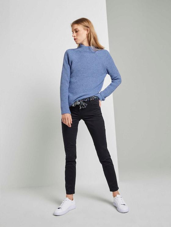 Alexa Slim Jeans mit Bindegürtel - Frauen - Deep Black - 3 - TOM TAILOR