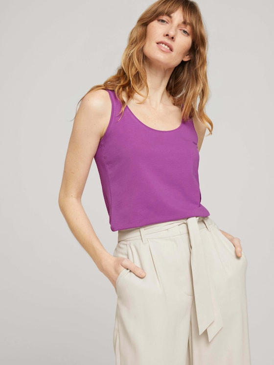 Basic Top - Frauen - plum blossom lilac - 5 - TOM TAILOR