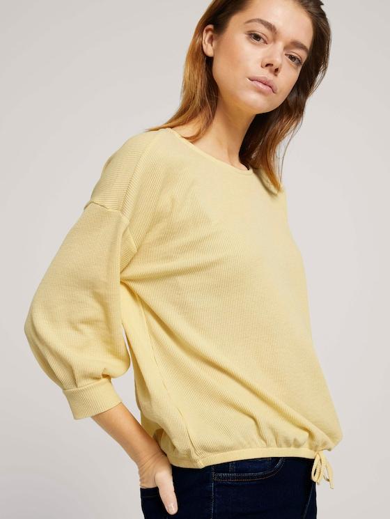 Shirt mit Knopfleiste - Frauen - soft yellow - 5 - TOM TAILOR Denim