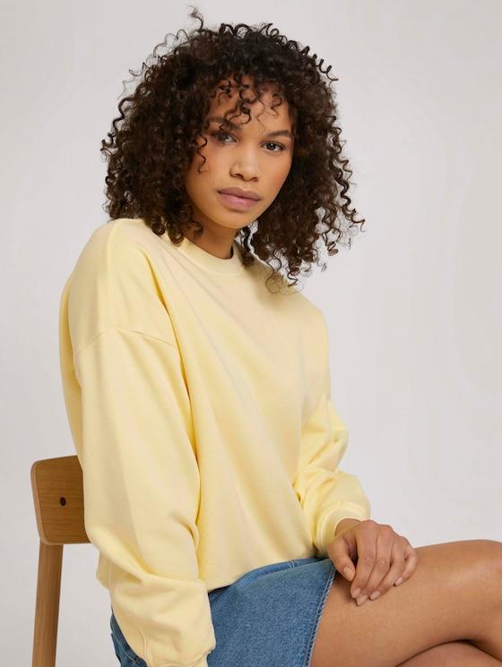 Oversized SweaT-Shirt mit Bio-Baumwolle - Frauen - soft yellow - 5 - TOM TAILOR Denim