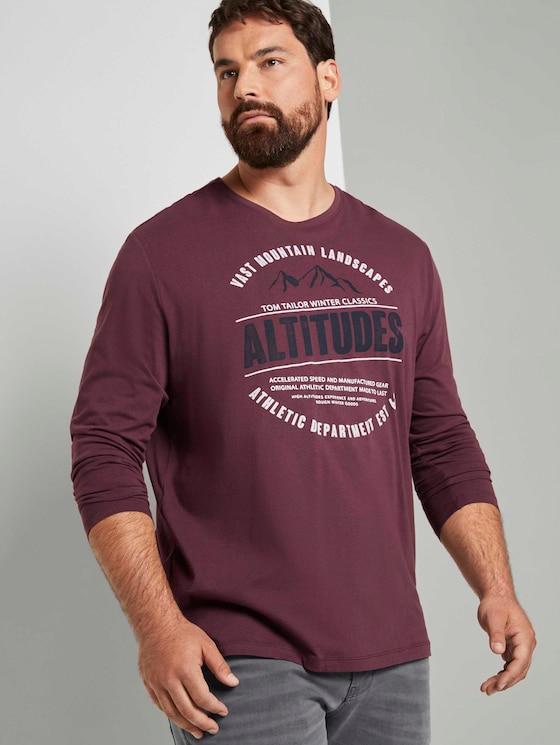 Langarmshirt mit Print - Männer - Dusty Wildberry Red - 5 - Men Plus