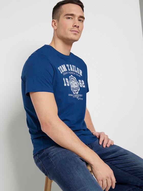 T-Shirt mit Print im Doppelpack - Männer - Dark Blue - 5 - TOM TAILOR