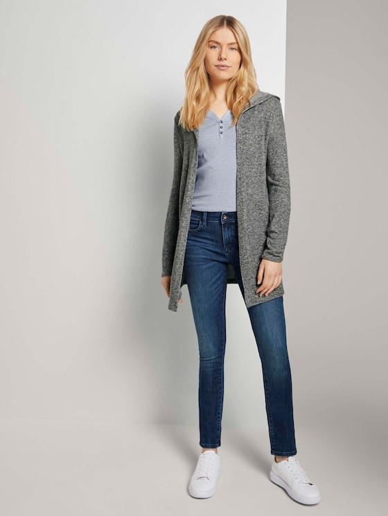 Alexa Slim Jeans - Frauen - Used Dark Stone Blue Denim - 3 - TOM TAILOR
