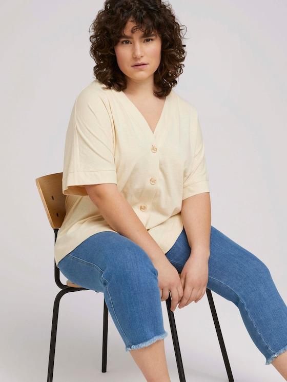 T-Shirt aus Bio-Baumwolle - Frauen - champagne white - 5 - My True Me