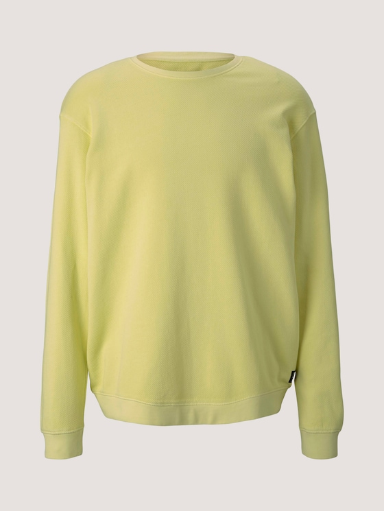 strukturiertes Sweatshirt - Männer - cream yellow - 7 - TOM TAILOR Denim
