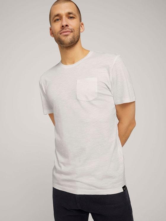 Basic T-Shirt - Männer - Off White - 5 - TOM TAILOR