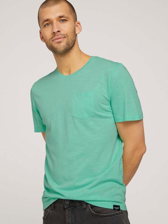 Basic T-Shirt - Männer - lucite green - 5 - TOM TAILOR