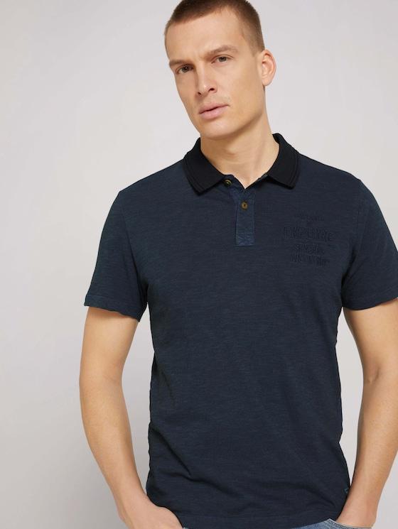 gestreiftes Poloshirt - Männer - dark blue fine stripe - 5 - TOM TAILOR
