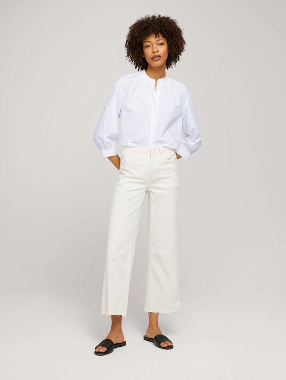 Kate Straight Jeans mit Bügelfalten - Frauen - Whisper White - 3 - Mine to five