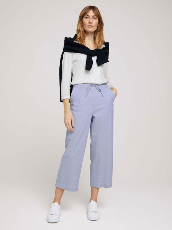 Gestreifte Stoffhose mit Bio-Baumwolle  - Frauen - Thin Stripe Pants - 3 - TOM TAILOR