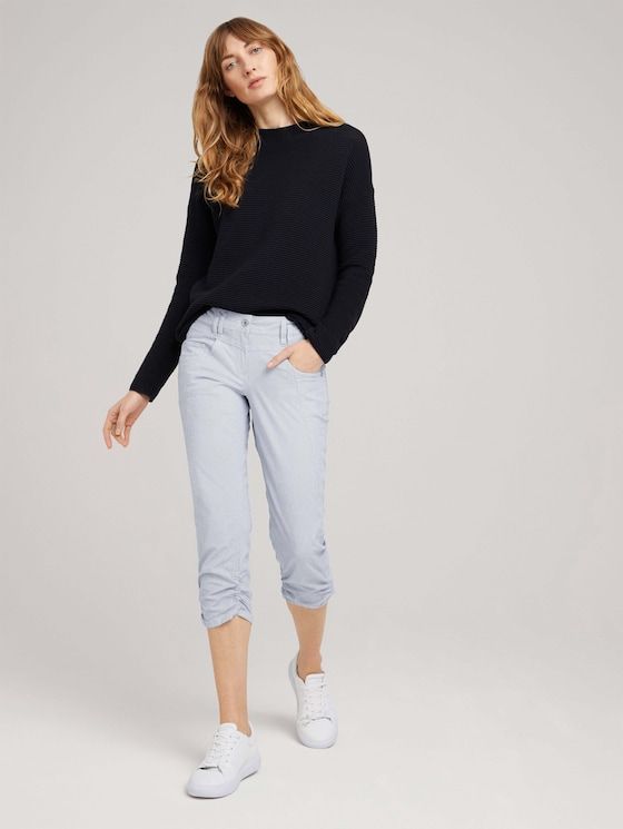 Tapered Relaxed Caprihose - Frauen - Thin Stripe Pants - 3 - TOM TAILOR