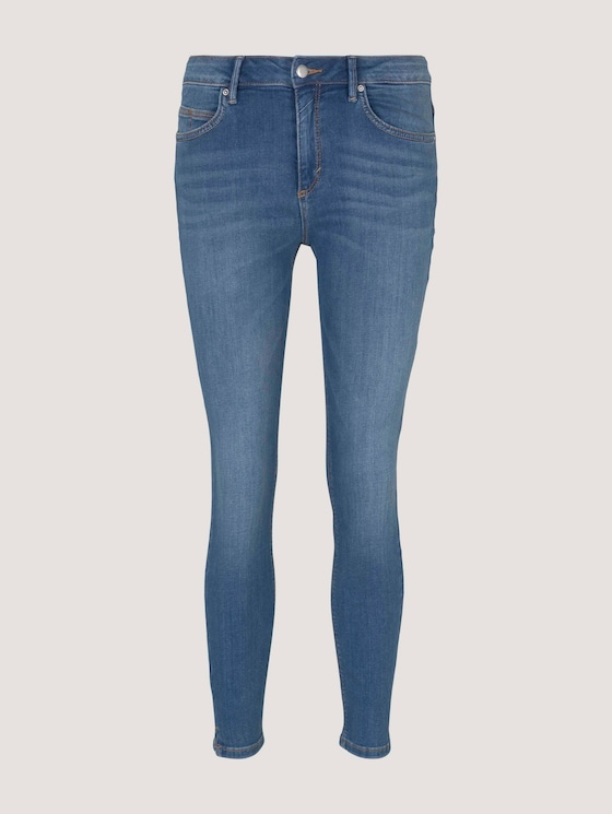 Kate Cropped Skinny Jeans mit Stretch - Frauen - mid stone bright blue denim - 7 - TOM TAILOR