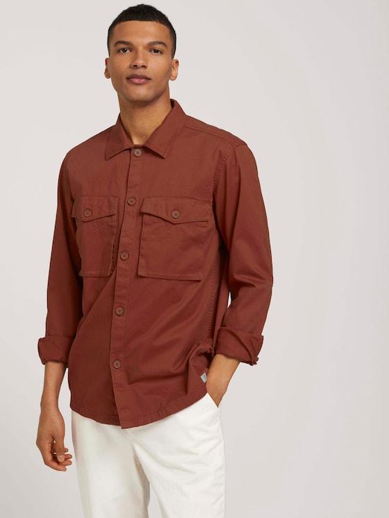 Basic Overshirt-Hemd - Männer - Goji Orange - 5 - TOM TAILOR Denim