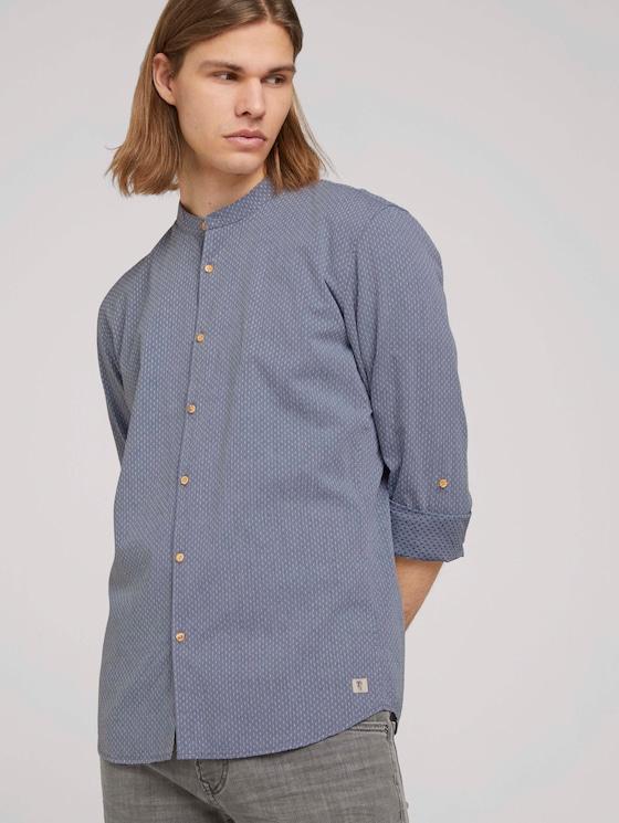 Strukturiertes Hemd - Männer - dark blue x dobby - 5 - TOM TAILOR Denim