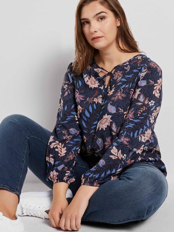 Bluse mit Blumenmuster - Frauen - navy floral design - 5 - My True Me