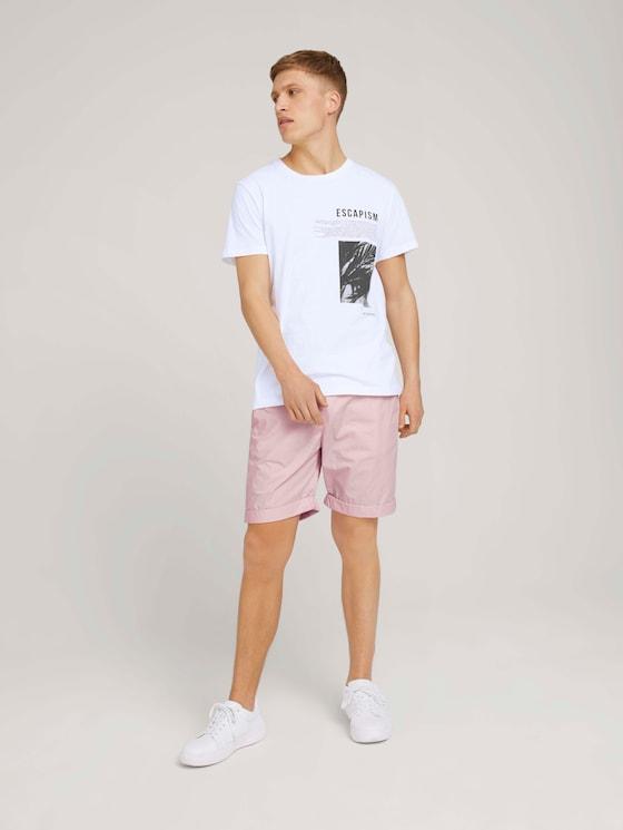 Jogger Shorts - Männer - soft peach skin - 3 - TOM TAILOR Denim