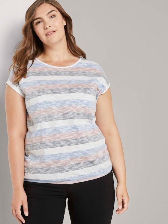 Gestreiftes T-Shirt aus Bio-Baumwolle - Frauen - blue multicolor stripe - 5 - My True Me