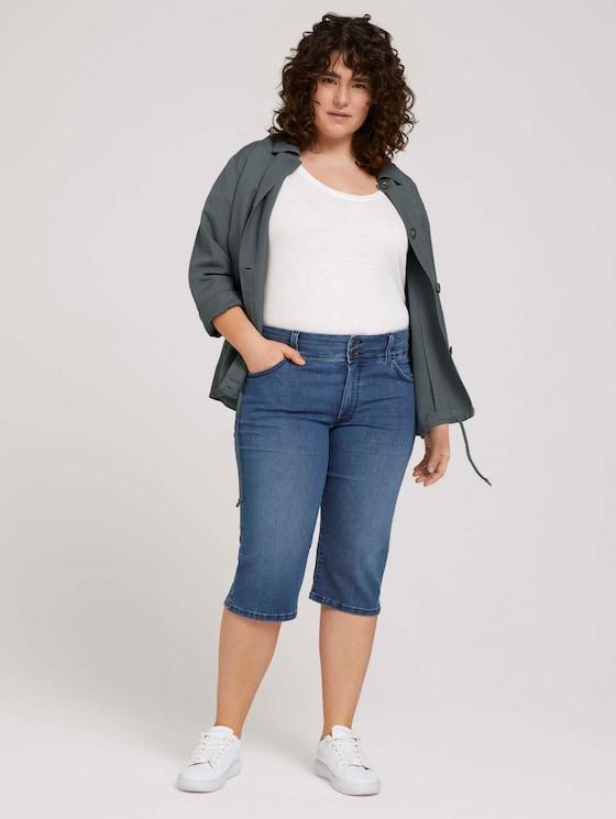 Curvy - Capri Jeans mit Bio-Baumwolle - Frauen - Clean Dark Stone Blue Denim - 3 - My True Me