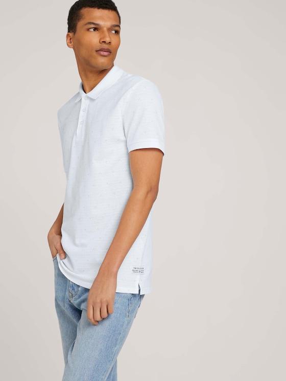 gemustertes Poloshirt - Männer - white dot triangle print - 5 - TOM TAILOR Denim