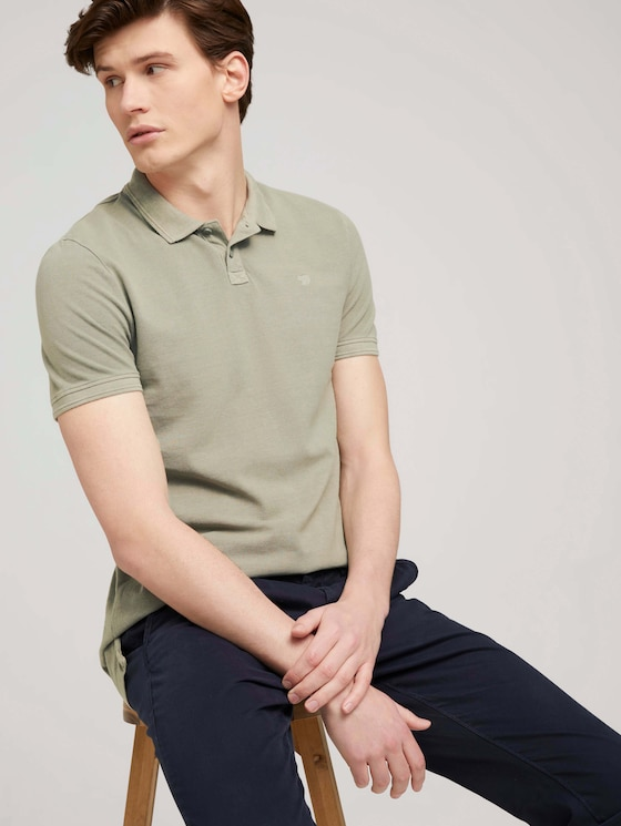 Poloshirt mit Farbverlauf - Männer - Greyish Shadow Olive - 5 - TOM TAILOR Denim