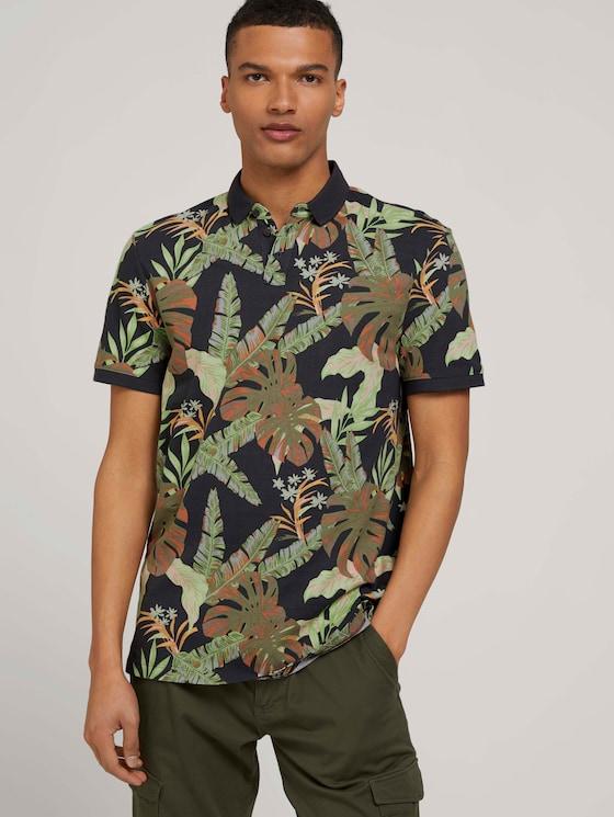 Poloshirt met dessin - Mannen - tropical monstera leaf print - 5 - TOM TAILOR Denim