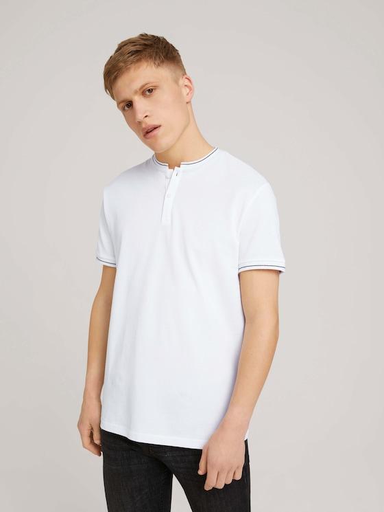 Poloshirt mit Strehkragen - Männer - White - 5 - TOM TAILOR Denim