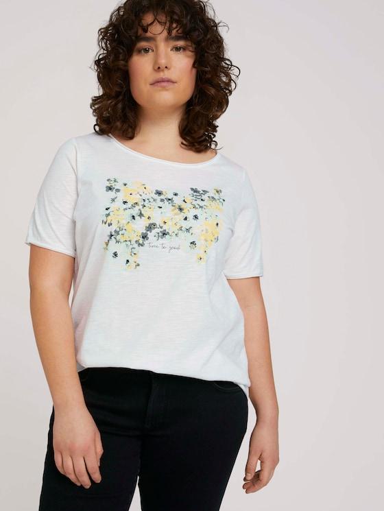 Print T-Shirt mit Bio-Baumwolle - Frauen - Whisper White - 5 - My True Me