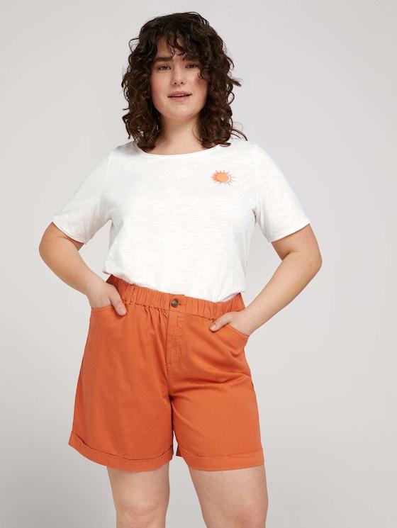Print T-Shirt mit Bio-Baumwolle - Frauen - Off White - 5 - My True Me